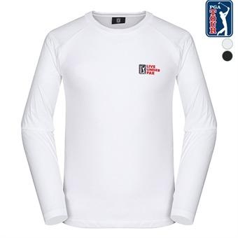 남A 패턴 라운드 티셔츠(L194TL120P)
