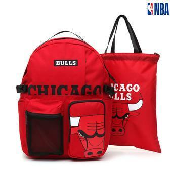 [NBA KIDS] NBA팀로고 투포켓 백팩+신발주머니 (K195AB011P)