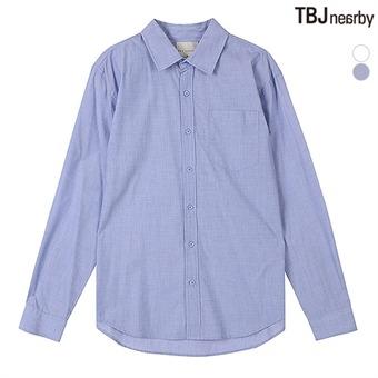 남성 코튼폴 루즈핏 솔리드 셔츠(T195SH100P)