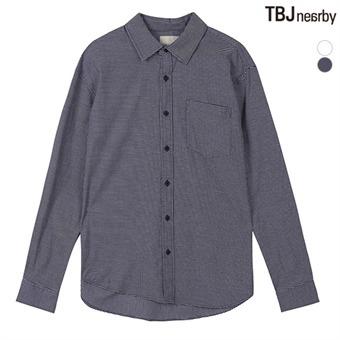 남성 코튼스판 루즈핏 체크 셔츠(T195SH102P)