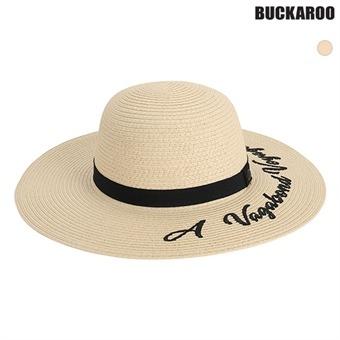 여성 레터링 자수 BEACH HAT (B195AP950P)
