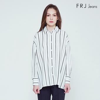 여성 오버핏 기본 카라 폴리ST 셔츠 (F92F-SH512A)