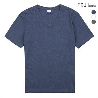 남성 슬럽 브이넥 티셔츠 (F96M-TM952B)