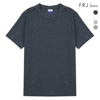 남성 슬럽 라운드 넥 티셔츠 (F96M-TM902B)