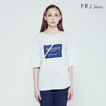 여성  슬럽 레터링 티셔츠 (F92F-TM533A)
