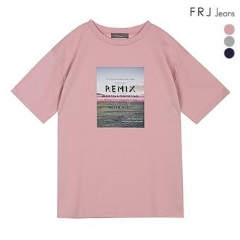 여성 분또 전사 티셔츠 (F92F-TM513A)