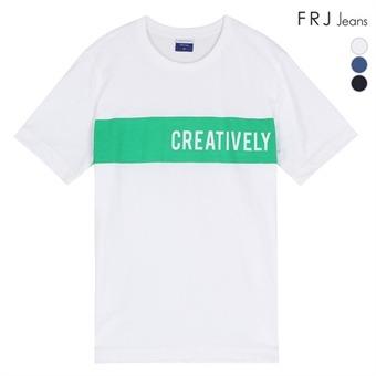 싱글 가슴프린트 유니 티셔츠 (F96U-TM823B)