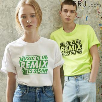 싱글 프린트 유니 티셔츠 (F96U-TM833B)