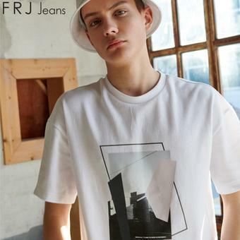남성 강연분또 실사 티셔츠 (F92M-TM183B)