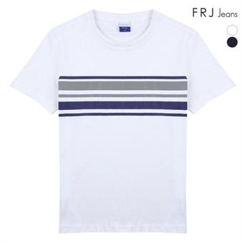 남성 싱글 가슴 프린트 티셔츠 (F96M-TM923B)