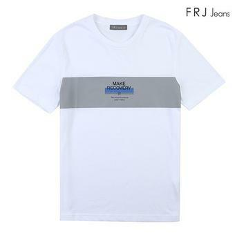 남성 흡한 속건면 블록 킹프린트 티셔츠 (F92M-TM053B)