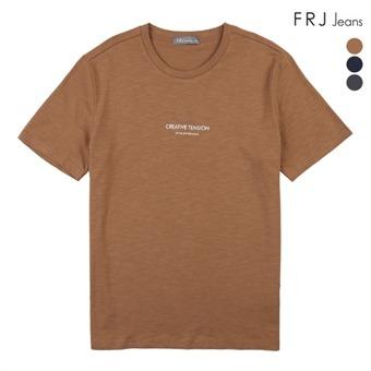 슬럽 레터링 유니 티셔츠 (F92U-TM033B)