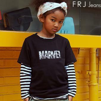 [FRJxMARVEL] 키즈 아트웍 로고 티셔츠 (F92U-TM324K)