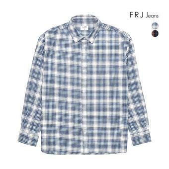 남성 오버핏 플란넬 체크 셔츠(F94M-SH078A)