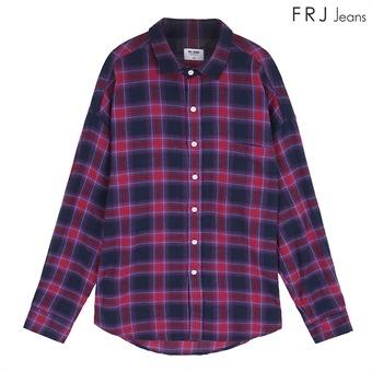 남성 오버핏 플란넬 체크 셔츠(F94M-SH088A)