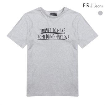 남성 레터링 프린트 티셔츠 (F76M-TM755S)
