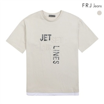 남성 형압프린트 오버핏 티셔츠 (F72M-TM233A)