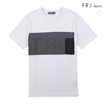 남성 타소재 배색 티셔츠 (F72M-TM293B)