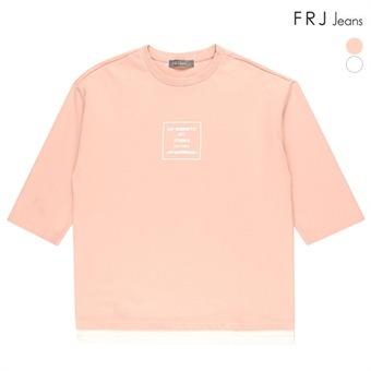 오버 9부핏 티셔츠 (F73U-TS017A)