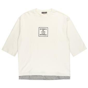 오버 9부핏 티셔츠 WH (F73U-TS017A)