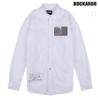 남성 전사프린트장식 셔츠(B161SH110P)