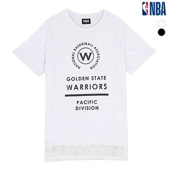 남성 골든스테이트 워리어스 밑단 메쉬 배색 티셔츠 (N162TS320P)