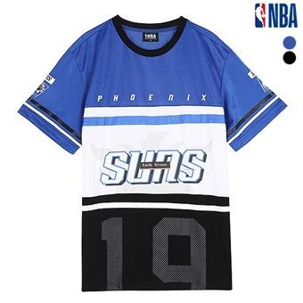 남성 피닉스 선즈 3단 배색 오버핏 티셔츠 (N162TS601P)