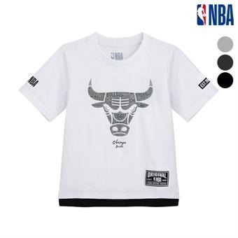 [NBA KIDS] NBA팀로고 오버핏 고주파 팀티셔츠 (N182TS513P)