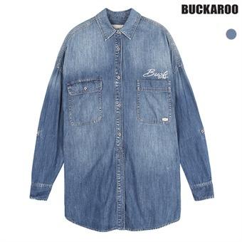 여성 가오리핏 L톤 셔츠 BCKR로고(B162DS520P)