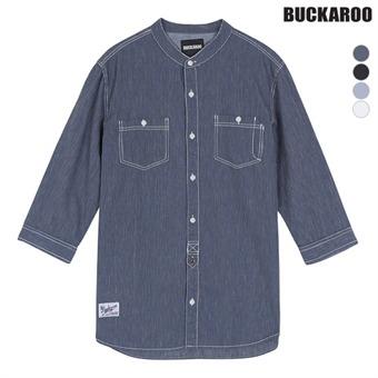 남성 코튼린넨 차이나카라 칠부소매셔츠(B162SH320P)