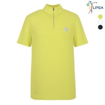 남P STRIPE조직 하이넥 반팔 티셔츠(L172TS933P)