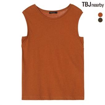 여성 넓은어깨 나시 티셔츠 솔리드(T182TS510P)