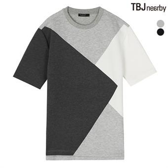 남성 네오프렌 5부 루즈핏 티셔츠(T172TS090P)