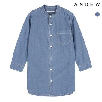 남성 헨리넥 데님 7부 셔츠(O172SH310P)