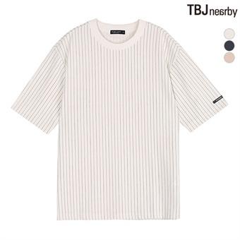 남성 분또 세로 스트라이프 티셔츠(T182TS007P)