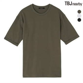 유니 싱글 무지 티셔츠(T182TS180P)