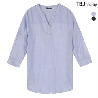 여성 7부 중기장 헨리넥 풀오버 셔츠(T172SH610P)