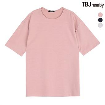 남성 소재변형 루즈핏 티셔츠(T172TS190P)