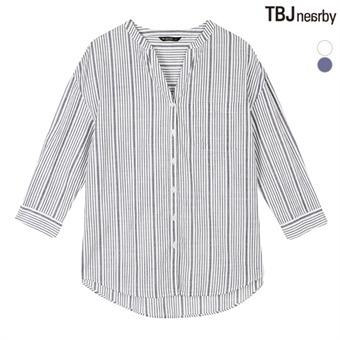 여성 제기장 루즈핏 차이나카라 셔츠(T162SH610P)