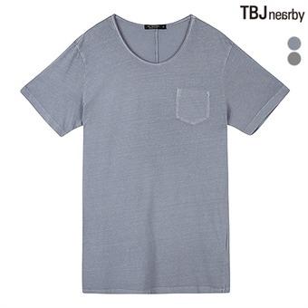남성 라운드 빈티지 워싱 티셔츠(T162TS010P)