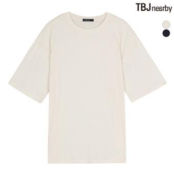 여성 라운드 롱기장 심플 티셔츠(T162TS840P)