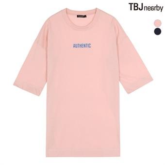 여성 라운드 롱기장 강연사 티셔츠(T162TS880P)