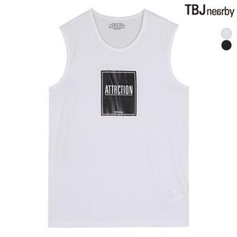 남성 넓은어깨 프린트 나시 티셔츠(T162TS460P)