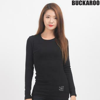 여성 골지 SLIM 라운드티셔츠(B163TS610P)