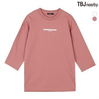 유니 미니쮸리 7부 루즈핏 티셔츠(T173TS040P)