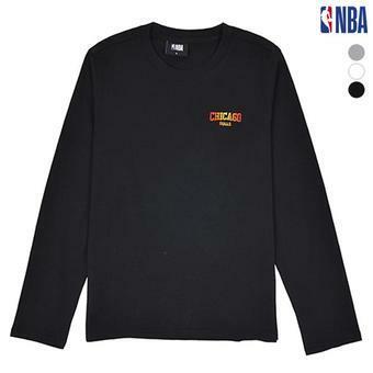유니 NBA팀명 그라데이션 자수 긴팔티셔츠 (N183TS191P)