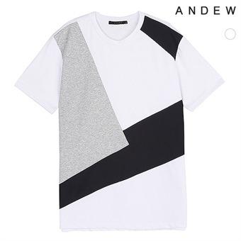 남성 배색 절개 티셔츠(O173TS114P)