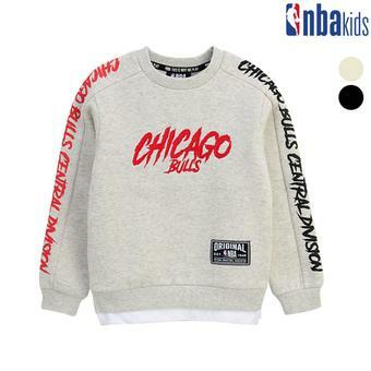 [NBA KIDS]소매 레터링 맨투맨 티셔츠 (K184TS511P)