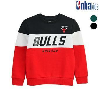 [NBA KIDS]배색절개 맨투맨 티셔츠(기모) (K184TS005P)