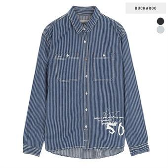 여성 인디고 스트라이프 셔츠(B165SH650P)